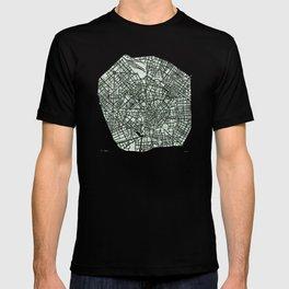 Milan Italy watercolor map T-shirt