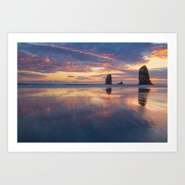 Reflections at Cannon Beach Art Print