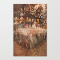middle earth Canvas Prints featuring Middle of the Earth by Loredana