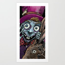 Hi Dear, We miss you come into the glass!!! Art Print