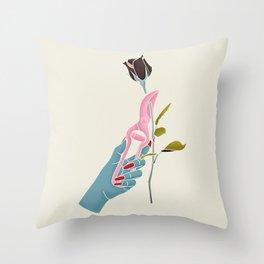 Morticia Addams Throw Pillow