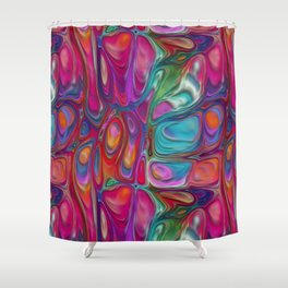 Abstract Paint Colors Shower Curtain