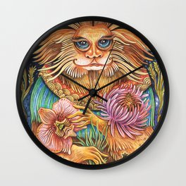 The Golden Monkey King Wall Clock