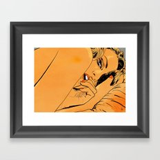 Girl in bed 1 Framed Art Print