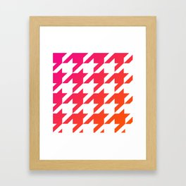 Houndtooth Framed Art Print