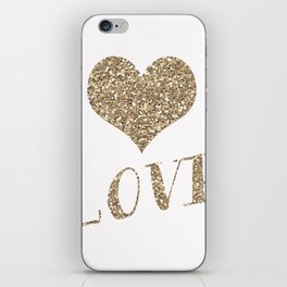 Glitter Heart iPhone Skin
