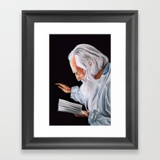 Old Wise Framed Art Print