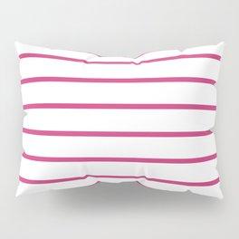 Hot Pink Breton Stripes Pillow Sham