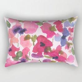 Monet's Rose Garden Rectangular Pillow