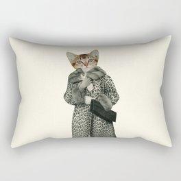 Kitten Dressed as Cat Rectangular Pillow
