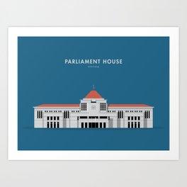Parliament House, Singapore [Building Singapore] Art Print