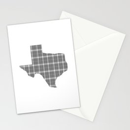 Texas State Shape: Grey Stationery Cards