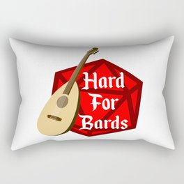 Hard For Bards - Dungeons & Dragons Rectangular Pillow