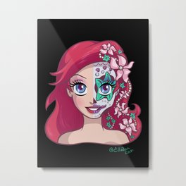 Sugar Skull Series: Underwater Princess Metal Print