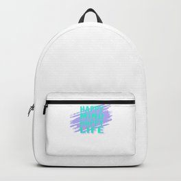 Happy Mind Happy Life tp Backpack