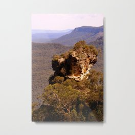 Blue Mountains Rockface Metal Print
