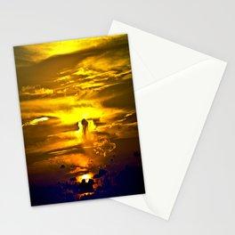 Fire sunset Stationery Cards