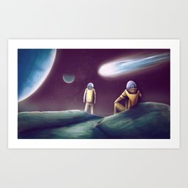 Observing The Energy Comet Art Print