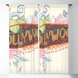 Hollywood Decorative Typographic Blackout Curtain