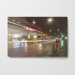 Norreport at night 2 Copenhagen Metal Print