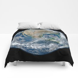 Blue Marble (North American) Comforters