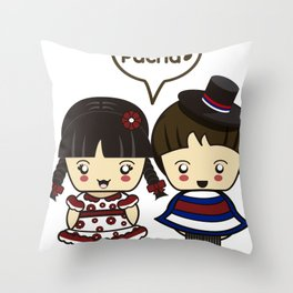 Los Huasitos Throw Pillow