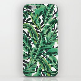 Monochrome Leaf iPhone Skin