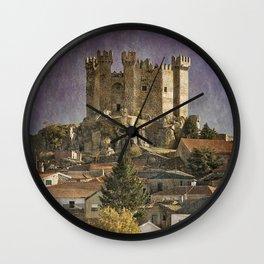 Portugal, Penedono Castle in the Douro region Wall Clock