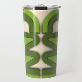 Symmetry: Green Tree Travel Mug