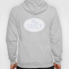 Mrs. Darcy - Baby Blue Hoody