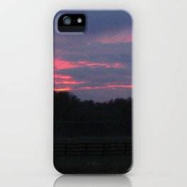 Purple and Pink Sunset iPhone Case