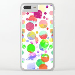 Abstract Watercolor circle Clear iPhone Case
