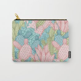 Pastel Cacti Obsession #society6 Carry-All Pouch