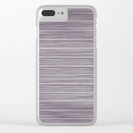 Summer Beach House Whitewashed Purple Pastel Decking Clear iPhone Case