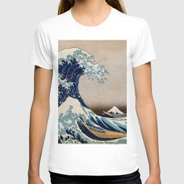 Under the Great Wave by Hokusai T-shirt