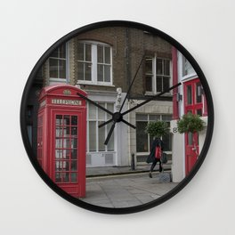 The lady with the red bag London street view  city UK Wall Clock
