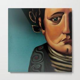 digital portrait of Napoleon Bonaparte Metal Print