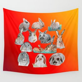 Bunny Mix Wall Tapestry