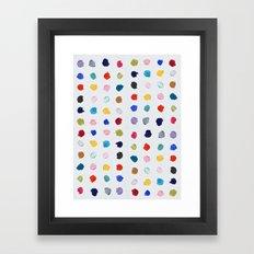 Polka Daubs Framed Art Print