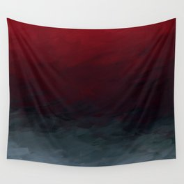 Inverted Fade Crimson Wall Tapestry