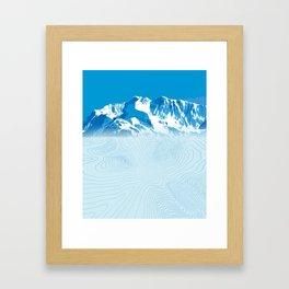 Mt. Alyeska Alaska Framed Art Print