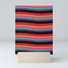 Wavy Serape Thick Fiesta Stripe Mini Art Print