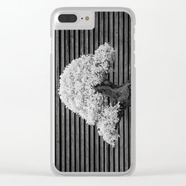 A Bonsai Olive Tree Thrives in a Japanese Garden Clear iPhone Case