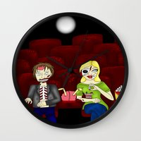 theatre Wall Clocks featuring Horror Theatre by Beaston Designs