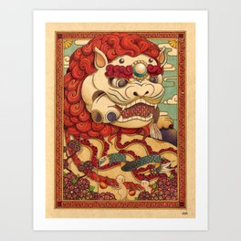 Chinese Lion Art Print