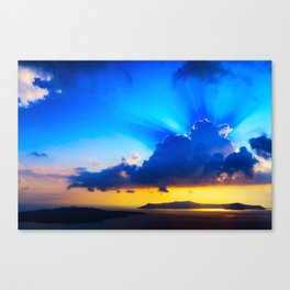 Angel sky Canvas Print