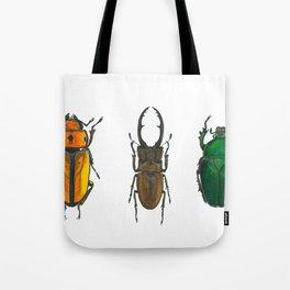 Illustration of Three Beetles Tote Bag