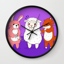 Lambie's Body Suit Problem Wall Clock