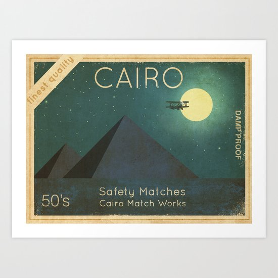 Cairo Safety Matches  Art Print
