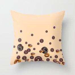 LOVE MY CHOCOLATE  DONUTS Throw Pillow